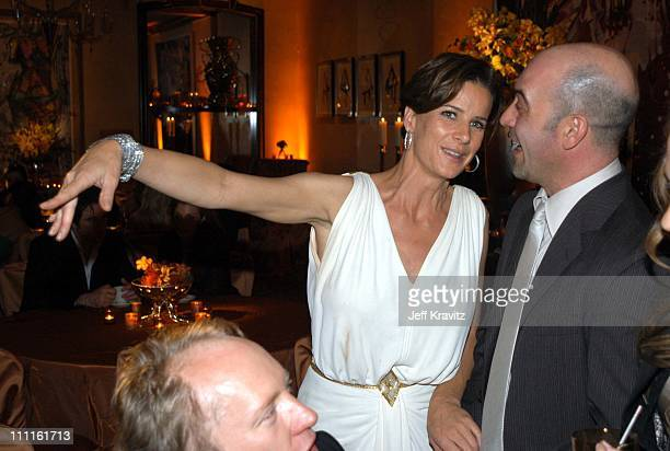 Rachel Griffiths and John Ventimiglia during HBO Screen Actors Guild Party at Spago in Beverly Hills CA United States