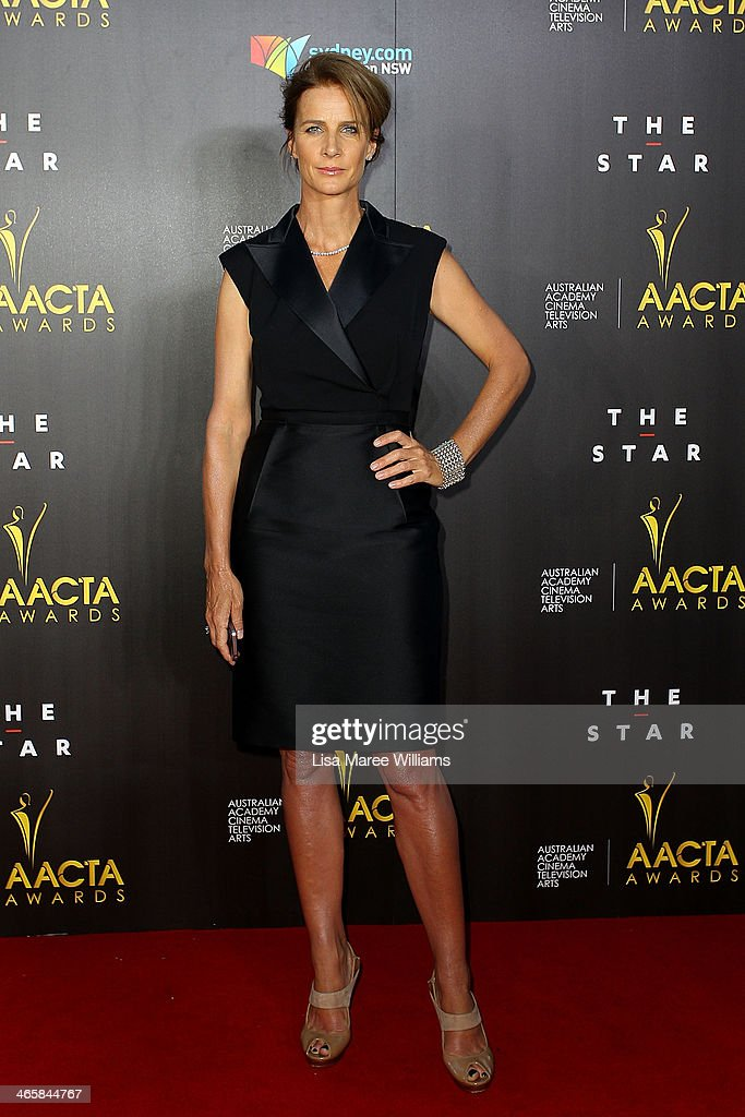 <a gi-track='captionPersonalityLinkClicked' href=/galleries/search?phrase=Rachel+Griffiths&family=editorial&specificpeople=208839 ng-click='$event.stopPropagation()'>Rachel Griffiths</a> arrives at the 3rd Annual AACTA Awards Ceremony at The Star on January 30, 2014 in Sydney, Australia.