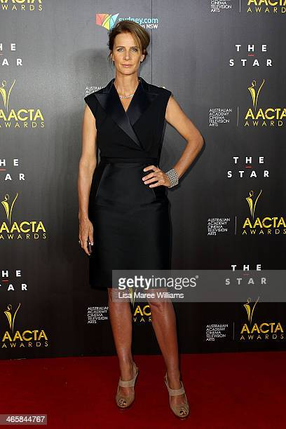 Rachel Griffiths arrives at the 3rd Annual AACTA Awards Ceremony at The Star on January 30 2014 in Sydney Australia