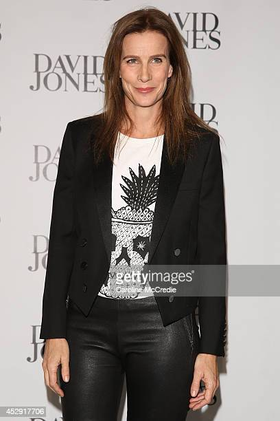 Rachel Griffiths arrives at the David Jones Spring/Summer 2014 Collection Launch at David Jones Elizabeth Street Store on July 30 2014 in Sydney...