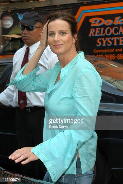 Rachel Griffiths during Rachel Griffiths and The Wiggles Depart From 'Live with Regis and Kelly' July 27 2005 at Regis and Kelly Studios in New York...