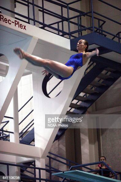 Rachel Heitkamp of the University of WisconsinOshkosh finished in first place in the women's 3 meter Springboard diving competition during the...