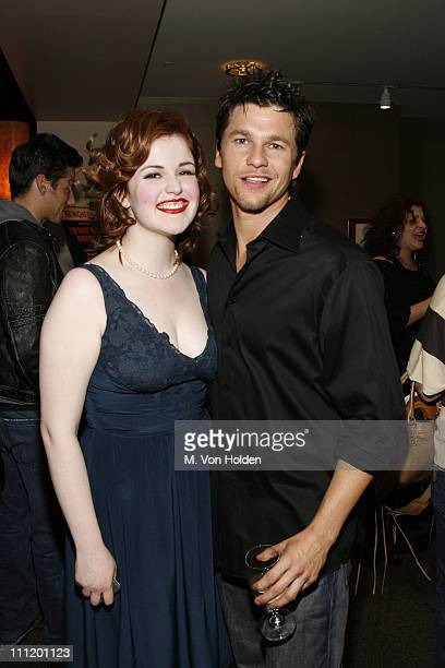 Rachel Helson and David Burtka during 'The Rocky Horror Tribute Show' Benefiting Breast Cancer Research Curtain Call and After Party at American...