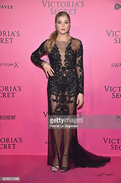 Rachel Hilbert attends the 2016 Victoria's Secret Fashion Show after party on November 30 2016 in Paris France
