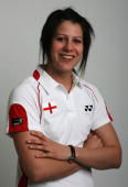 Rachel Howard poses for a photo prior to a training session at the National Badminton Centre on May 22 2008 in Milton Keynes England