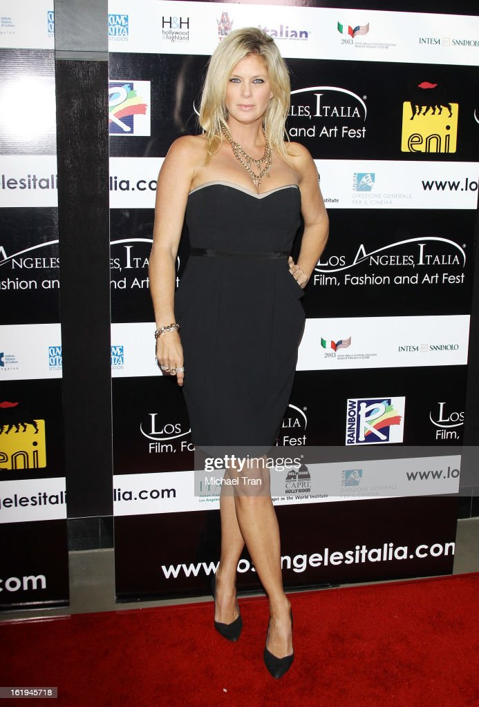 Rachel Hunter arrives at The 8th Annual Los Angeles, Italia Film, Fashion And Art Festival held at Chinese 6 Theatres on February 17, 2013 in Hollywood, California.
