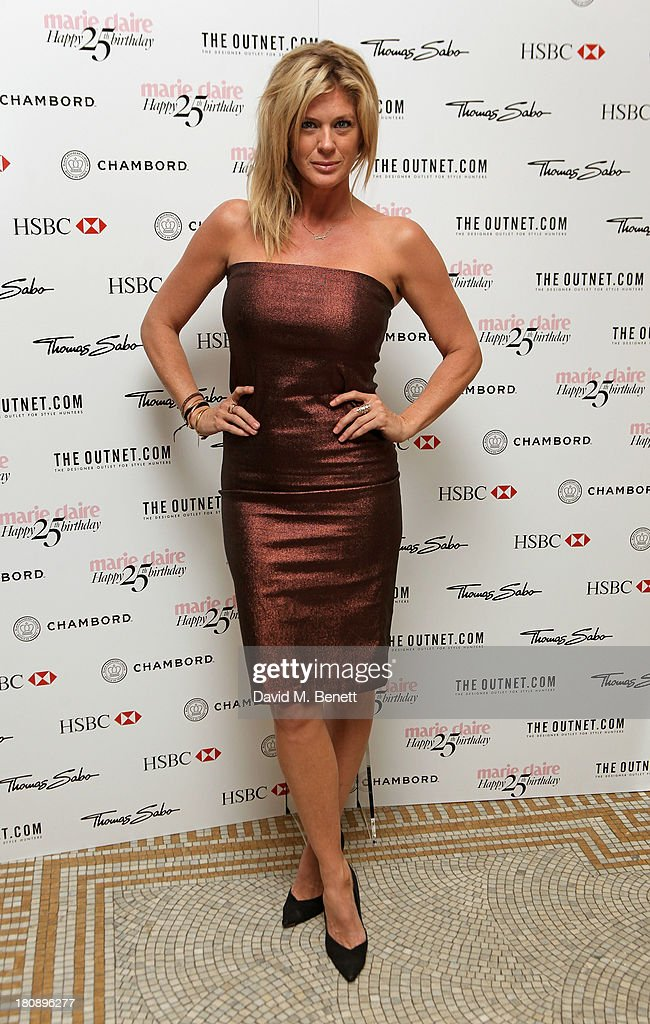 <a gi-track='captionPersonalityLinkClicked' href=/galleries/search?phrase=Rachel+Hunter&family=editorial&specificpeople=203027 ng-click='$event.stopPropagation()'>Rachel Hunter</a> arrives at the Marie Claire 25th birthday celebration featuring Icons of Our Time in association with The Outnet at the Cafe Royal Hotel on September 17, 2013 in London, England.