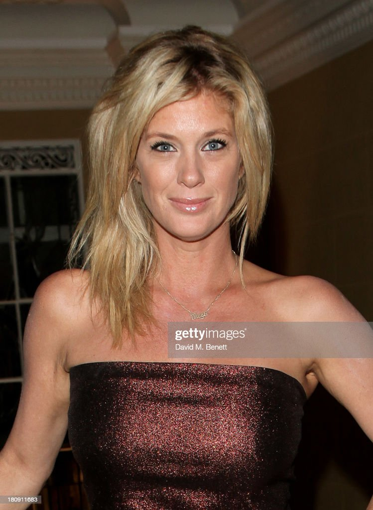 Rachel Hunter arrives at the Marie Claire 25th birthday celebration featuring Icons of Our Time in association with The Outnet at the Cafe Royal Hotel on September 17, 2013 in London, England.