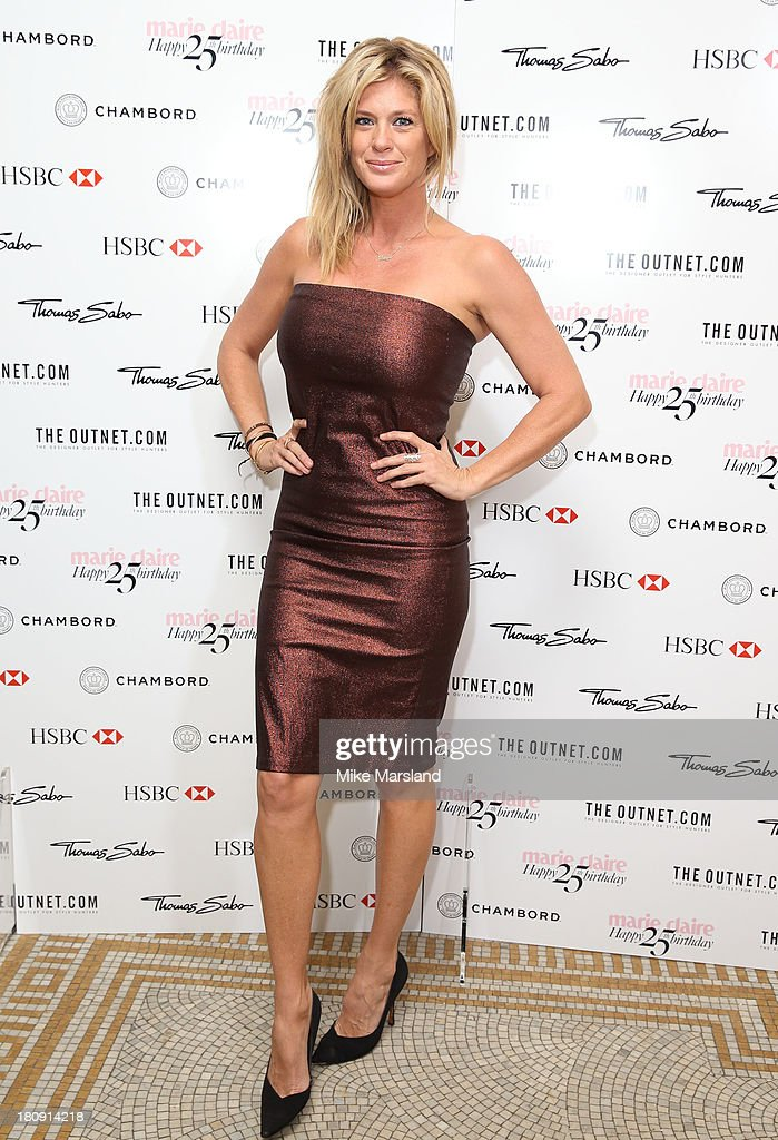 <a gi-track='captionPersonalityLinkClicked' href=/galleries/search?phrase=Rachel+Hunter&family=editorial&specificpeople=203027 ng-click='$event.stopPropagation()'>Rachel Hunter</a> attends the 25th birthday party of Marie Claire at Hotel Cafe Royal on September 17, 2013 in London, England.