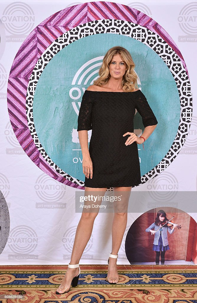 Rachel Hunter attends the Ovation 2016 Winter TCA Tour introducing three series featuring Rachel Hunter, Reza Aslan, Norman Lear And Yannick Bisson at Langham Hotel on January 5, 2016 in Pasadena, California.
