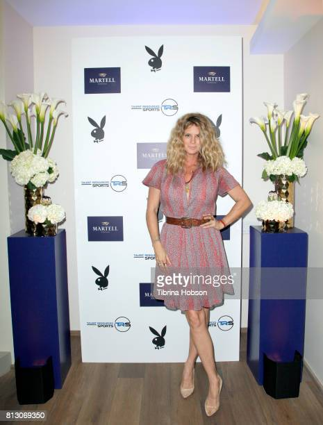 Rachel Hunter attends the Talent Resources Sports Party hosted by Martell Cognac at Playboy Headquarters on July 11 2017 in Los Angeles California
