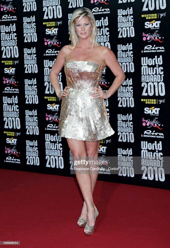 Rachel Hunter attends the 'World Music Awards 2010 - show' at the Sporting Club on May 18, 2010 in Monte Carlo, Monaco.
