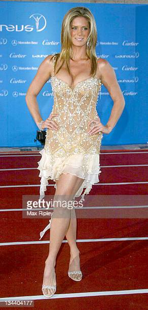 Rachel Hunter during 2004 Laureus World Sports Awards Arrivals at Centro Cultural De Belem in Estoril Portugal