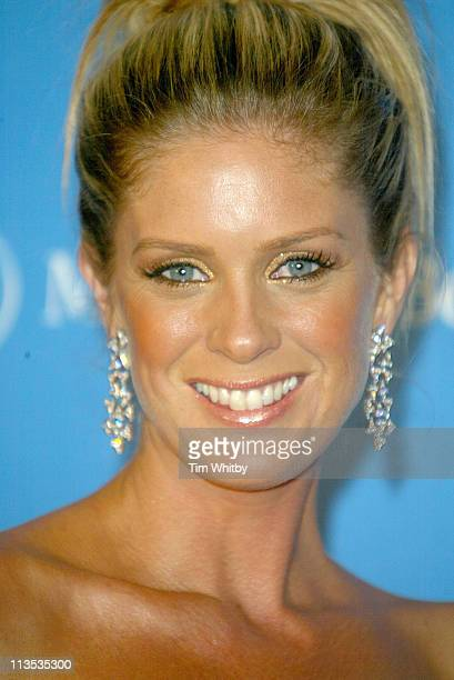 Rachel Hunter during 2004 Laureus World Sports Awards Pressroom at Centro Cultural De Belem in Estoril Portugal