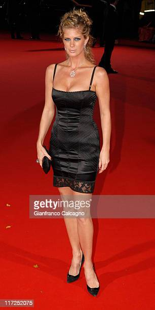 Rachel Hunter during 2006 World Music Awards Red Carpet Arrivals at Earls Court in London Great Britain
