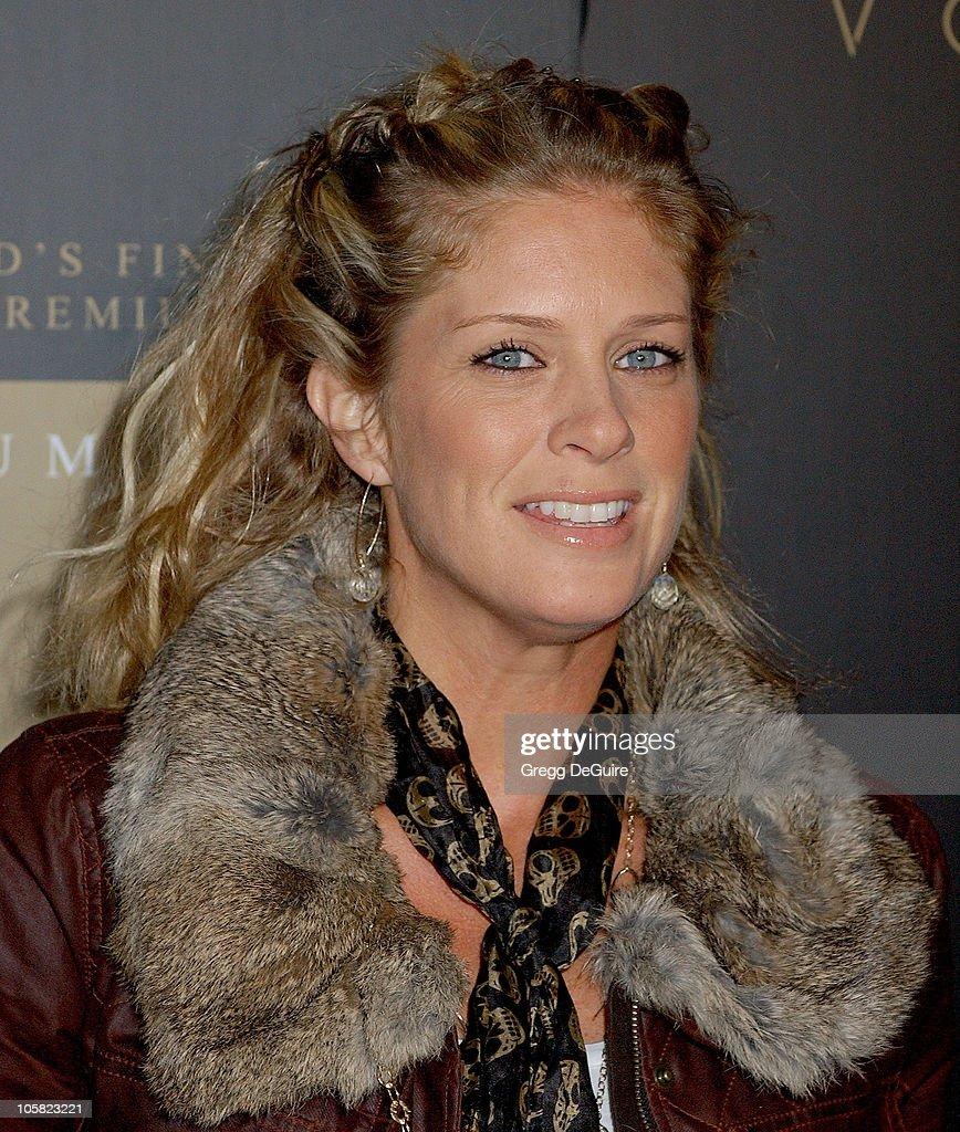Rachel hunter blonde long hair bustier corset lace cleavage news photo - Rachel Hunter Getty Images