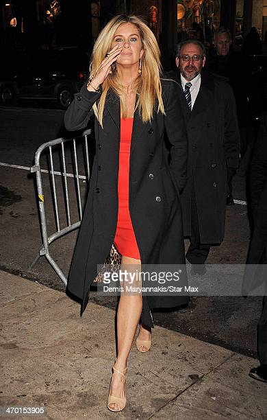Rachel Hunter is seen on February 17 2014 in New York City