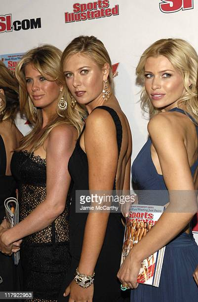 Rachel Hunter Maria Sharapova and Daniela Pestova