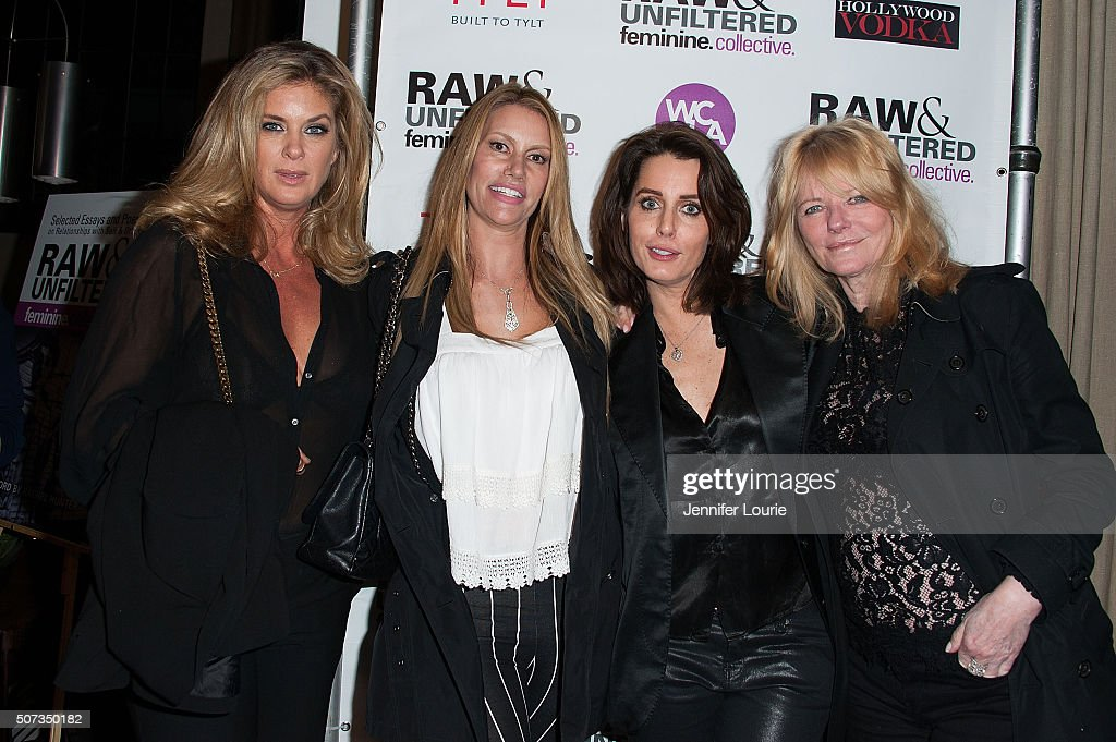 Rachel Hunter, Susan Holmes McKagen, Julie Anderson and Cheryl Tiegs arrive at the launch party for The Feminine Collective: Raw and Unfiltered Vol. 1 at Palihouse on January 28, 2016 in West Hollywood, California.