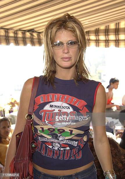 Rachel Hunter wearing Dior Cat sunglasses during Safilo Partners with Solstice Sunglass Store Chain at The Cabana Beauty Buffet Day 2 at Ma Maison in...