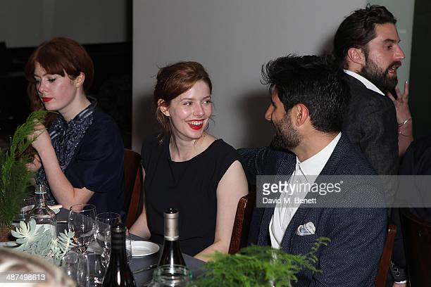 Rachel Hurdwood and Kayvan Novak attend the Whistles menswear launch dinner on April 30 2014 in London England