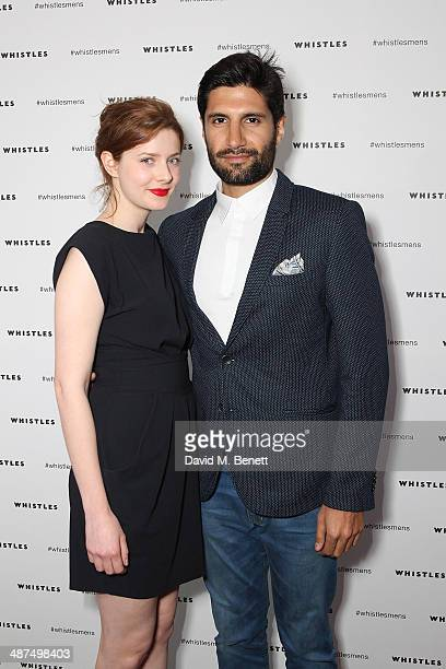 Rachel Hurdwood and Kayvan Novak attends the Whistles menswear launch dinner>> on April 30 2014 in London England
