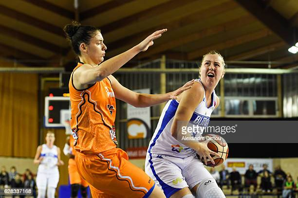 Rachel Jarry of Lattes Montpellier during the Women's EuroLeague match between Montpellier Lattes and Schio on December 7 2016 in Montpellier France