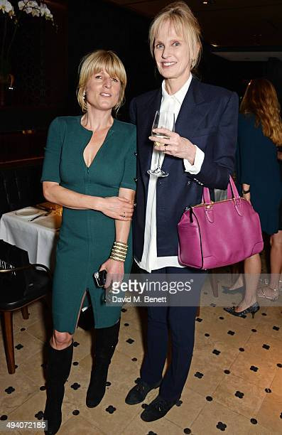 Rachel Johnson and author Siri Hustvedt attend a private dinner hosted by PORTER Magazine for author Siri Hustvedt at Toto's Restaurant on May 27...
