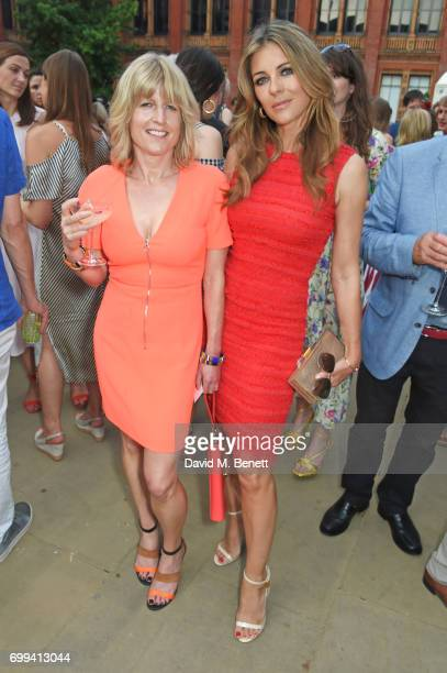 Rachel Johnson and Elizabeth Hurley attend the 2017 annual VA Summer Party in partnership with Harrods at the Victoria and Albert Museum on June 21...
