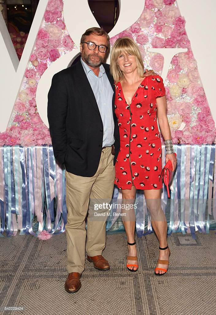Rachel Johnson (R) and Ivo Dawnay attend the 2016 V&A Summer Party In Partnership with Harrods at The V&A on June 22, 2016 in London, England.