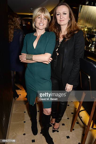 Rachel Johnson and Lucy Yeomans EditorinChief of PORTER magazine attend a private dinner hosted by PORTER Magazine for author Siri Hustvedt at Toto's...