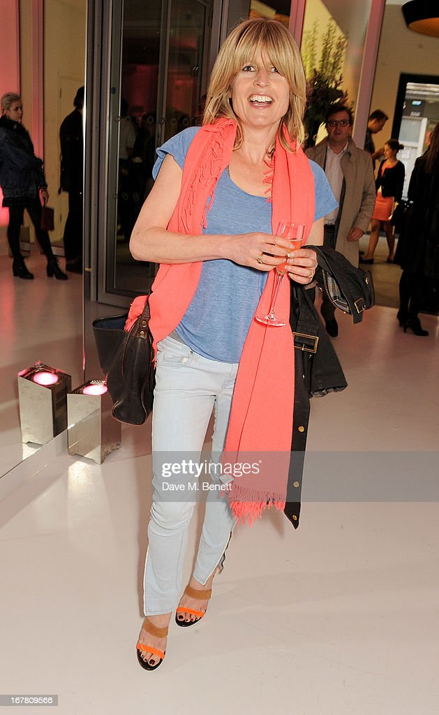 Rachel Johnson attends the Conde Nast College of Fashion & Design opening party at 16/17 Greek Street on April 30, 2013 in London, England.