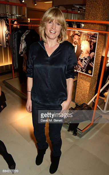 Rachel Johnson attends the London Evening Standard Londoner's Diary 100th Birthday Party in partnership with Harvey Nichols at Harvey Nichols on May...