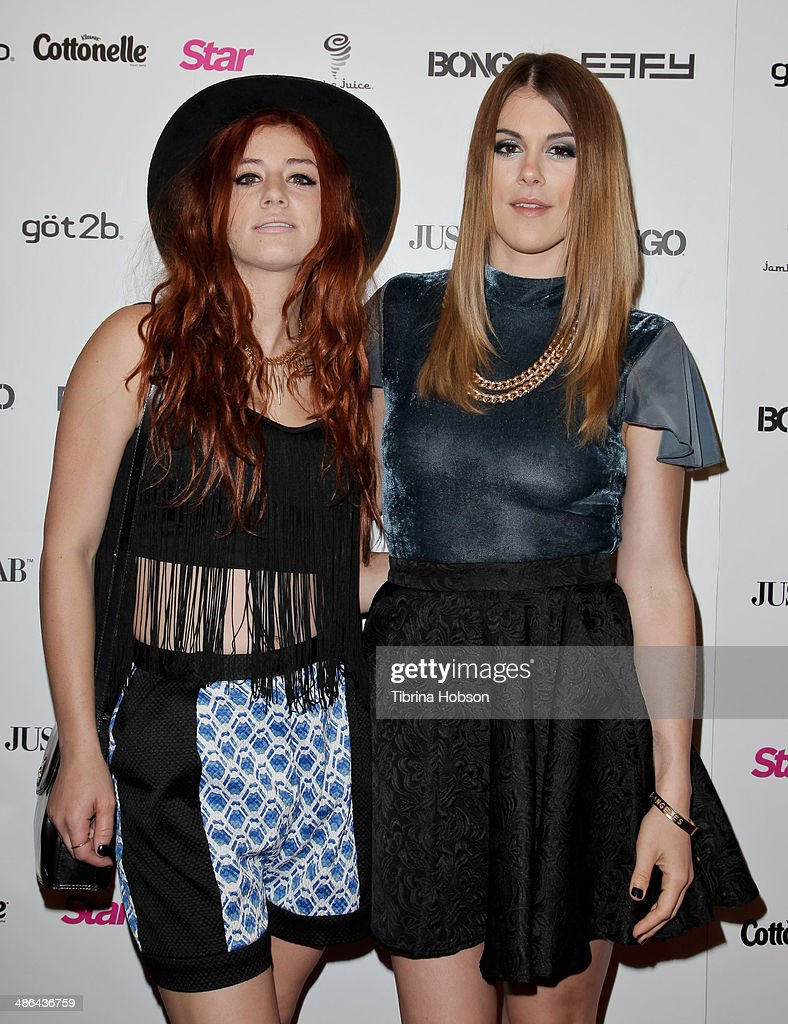 Rachel Kanner and Lindsey Shaw attend Star Magazine's 'Hollywood Rocks' party 2014 at SupperClub Los Angeles on April 23, 2014 in Los Angeles, California.