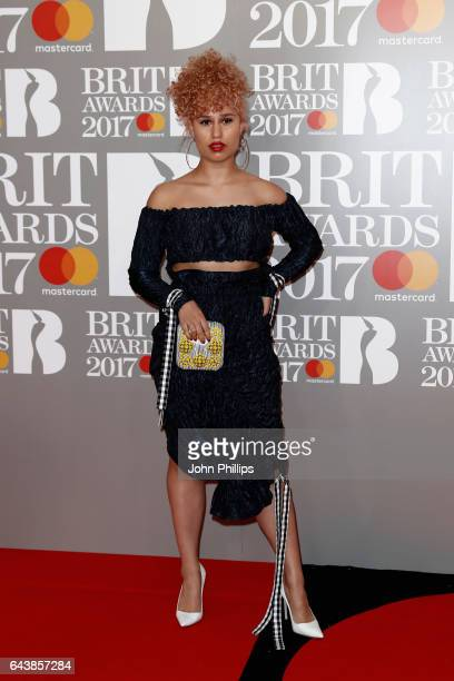 Rachel Keen aka Raye attends The BRIT Awards 2017 at The O2 Arena on February 22 2017 in London England
