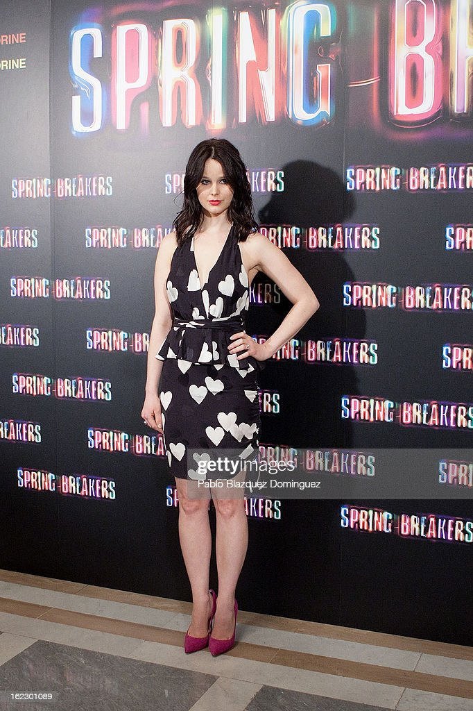 Rachel Korine attends 'Springbreakers' Photocall at Villamagna Hotel on February 21, 2013 in Madrid, Spain.