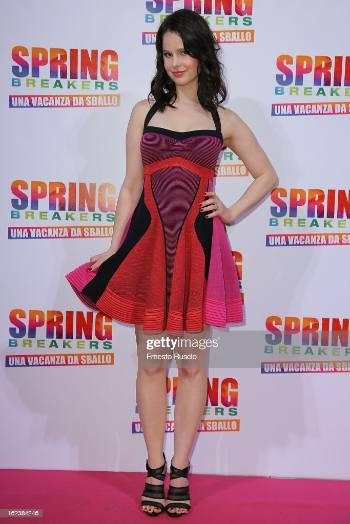 Rachel Korine attends the 'Spring Breakers' screening at Adriano Cinema on February 22, 2013 in Rome, Italy.
