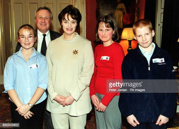 Rachel Lear Rachel Parke and Simon Hales from the Wiral South area with British Prime Minister's wife Cherie Blair and local MP Ben Chapman after...