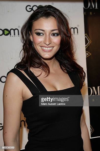 Rachel LegrainTrapani attends 'Radio' launch of Pascal Obispo in VIP Room Theatre on April 16 2009 in Paris France