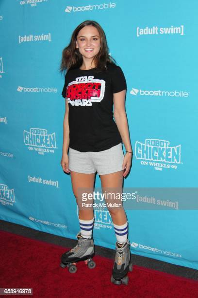 Rachel Leigh Cook attends Seth Green and Adult Swim Present Robot Chicken Skate Party Bus Tour at Skateland on August 1 2009 in Northridge California
