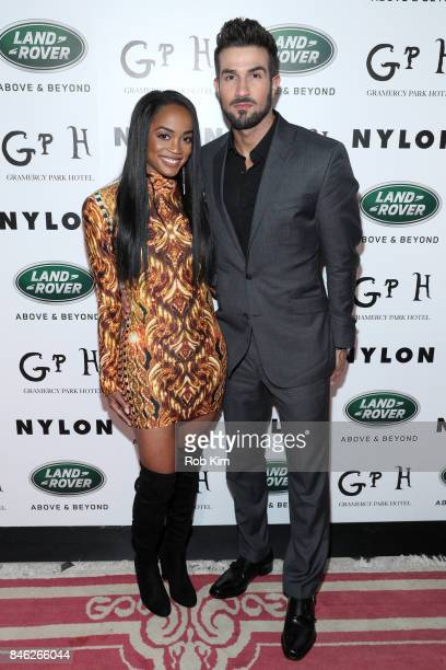 Rachel Lindsay and Bryan Abasolo attend NYLON's Rebel Fashion Party powered by Land Rover at Gramercy Terrace at Gramercy Park Hotel on September 12...