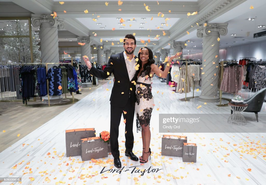 Rachel Lindsay & Fiance Bryan Abasolo Visit Lord & Taylor NYC Flagship To Promote New Price Matching Program