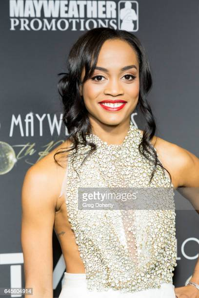 Rachel Lindsay attends Floyd Mayweather's 40th Birthday Celebration on February 25 2017 in Los Angeles California