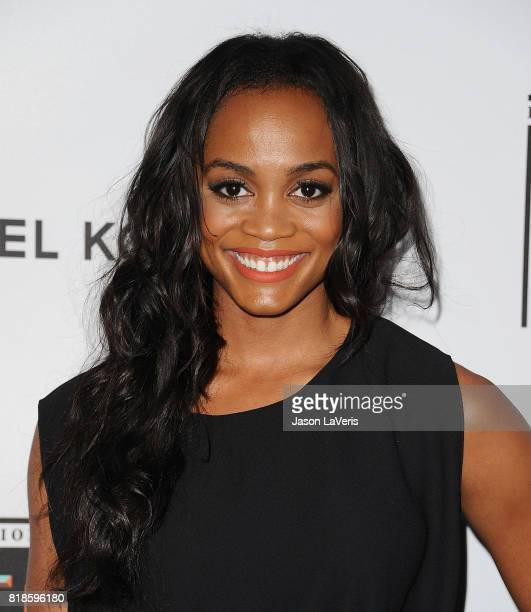 Rachel Lindsay attends the Sports Illustrated Fashionable 50 event at Avenue on July 18 2017 in Los Angeles California