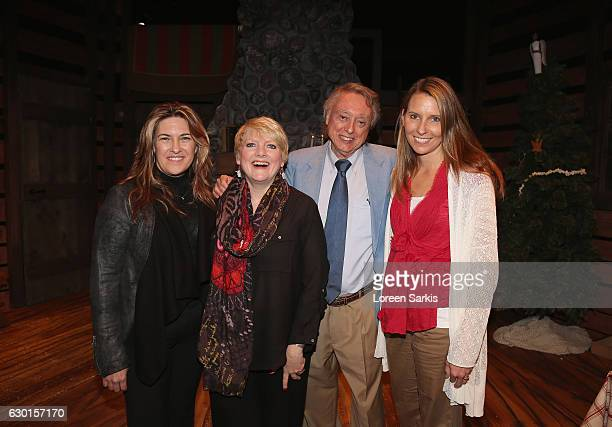 Rachel Lindsay Greenbush Alison Arngrim Dan McBride and Wendi Turnbaugh attend 'A Little House Christmas' at Sierra Madre Playhouse on December 16...