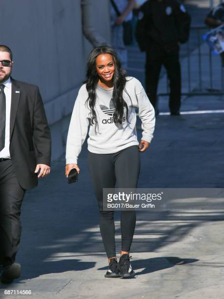 Rachel Lindsay is seen at 'Jimmy Kimmel Live' on May 22 2017 in Los Angeles California