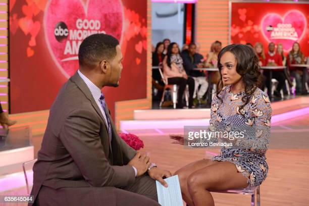 AMERICA Rachel Lindsay of 'The Bachelorette' is a guest on 'Good Morning America' Tuesday February 14 2017 on the ABC Television Network MICHAEL