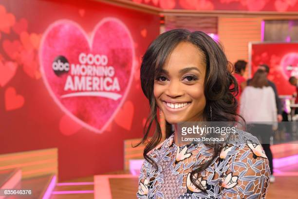 AMERICA Rachel Lindsay of 'The Bachelorette' is a guest on 'Good Morning America' Tuesday February 14 2017 on the ABC Television Network RACHEL