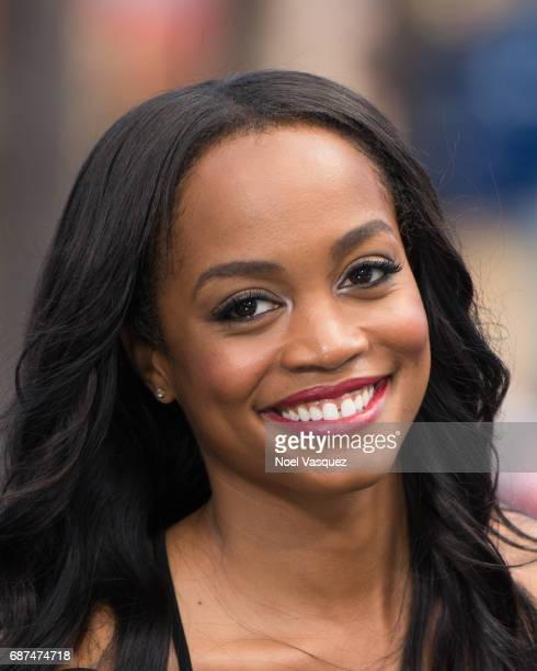 Rachel Lindsay visits 'Extra' at Universal Studios Hollywood on May 23 2017 in Universal City California