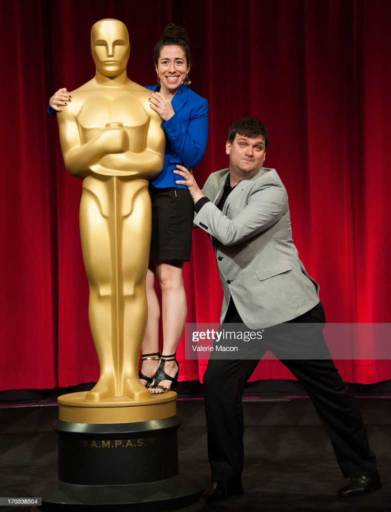 Rachel Loube and John Mattiuzzi attends The Academy Of Motion Picture Arts And Sciences' 40th Annual Student Academy Awards Ceremony at AMPAS Samuel...